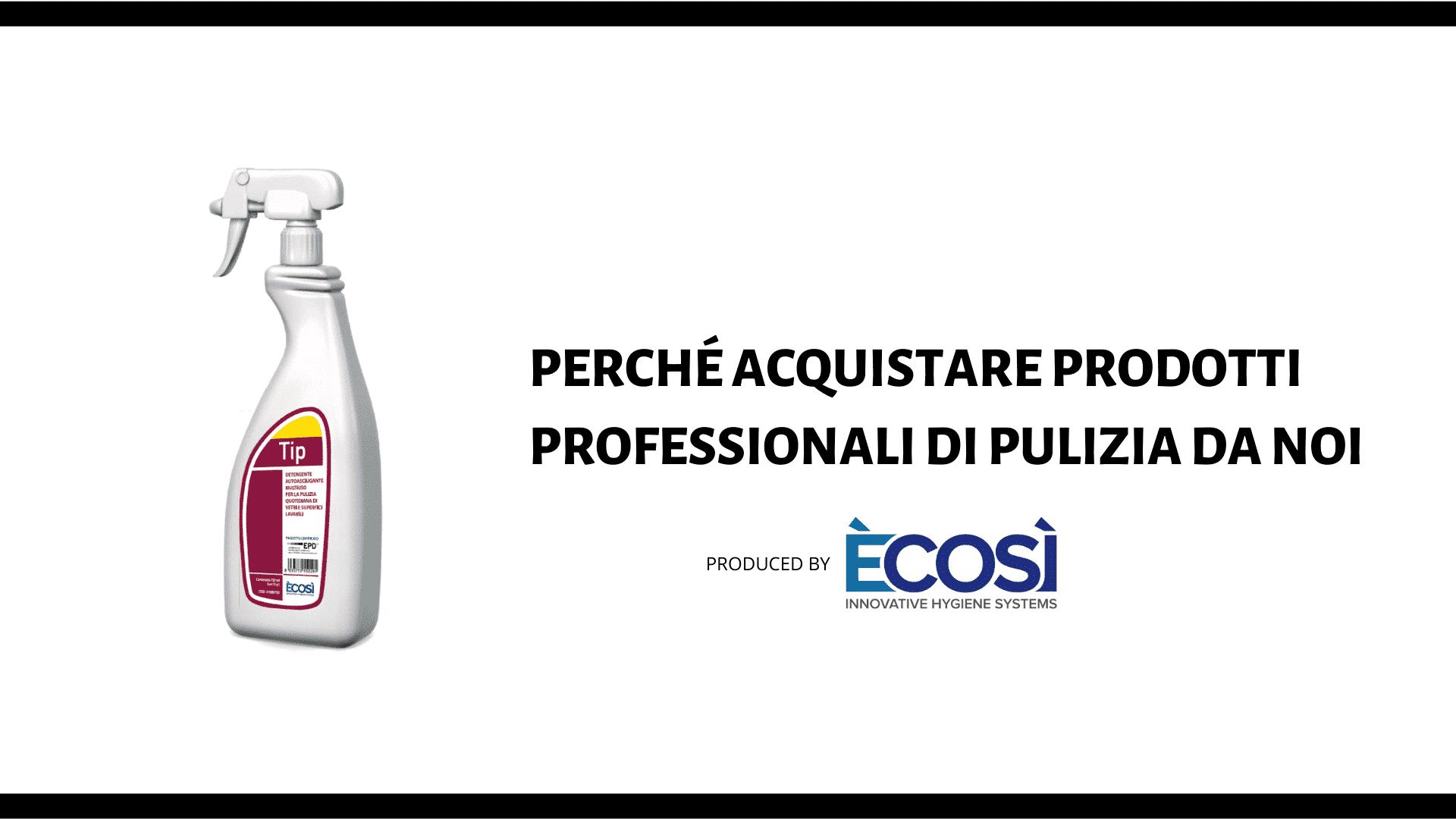 prodotti professionali pulizia ecosi per casa